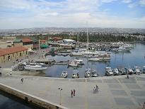 View of the harbour from Paphos Castle
