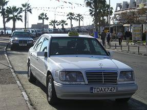 Paphos Taxi along the seafront